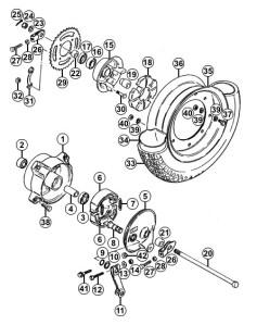 Suzuki PV takapyörän räjäytyskuva