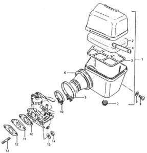 Suzuki PV ilmanpuhdistimen räjäytyskuva