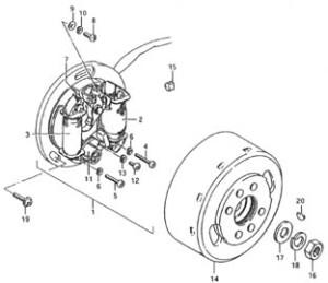 Suzuki PV magneeton räjäytyskuva