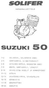 Suzuki PV moottori_varaosaluettelo_kansi