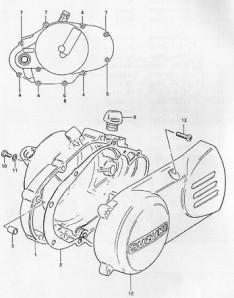 Suzuki PV moottorikoteloiden räjäytyskuva