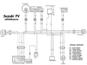 Suzuki PV sähkökaavio 6V