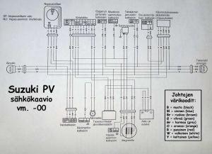 Suzuki PV sähkökaavio 2000