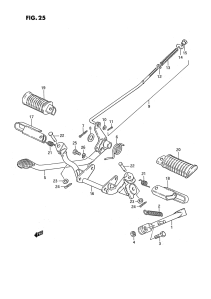 Suzuki PV jalkatappien ja takajarruvivuston räjäytyskuva 2