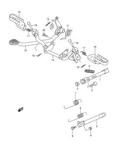 Suzuki PV jalkatappien ja takajarruvivuston räjäytyskuva 3