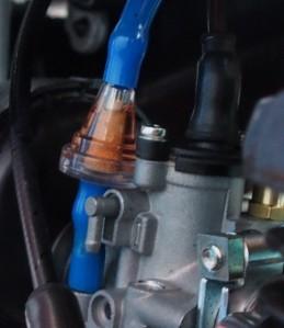 Polttoainesuodattimen virtaussuuntanuoli on syytä huomioida.
