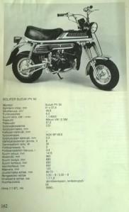 Suzuki PV tekniset tiedot Minä ja Mopo -kirjassa