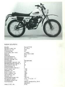 Suzuki S1 tekniset tiedot Minä ja Mopo -kirjassa