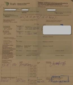 Todistus saadusta kuljettajaopetuksesta ja suoritetusta kuljettajatutkinnosta