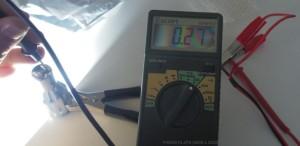 Pitkien valojen virrankulutus on 270 mA.