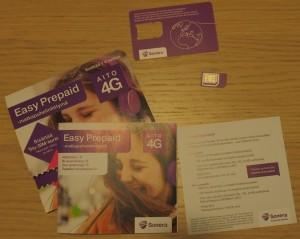 SIM-kortiksi kelpaa esim. prepaid-liittymä, joka toimii 2G verkossa.