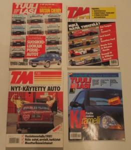 Lehdet, joissa SUzuki PV artikkeleita: TM 7/86 ja 7/92 sekä Tuulilasi 7/87 ja 6/97