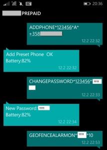 Sallitun puhelinnumeron tallennus, salasanan vaihto.